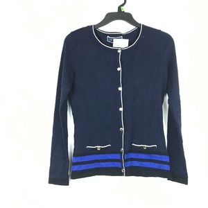 Sweaters - Karen Scott Women Petite PP Navy BL Sweater 8BG55